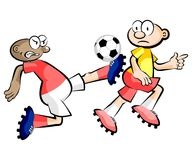 Cartoons Soccer players isolated over white Royalty Free Stock Photos