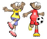 Cartoons Soccer players isolated over white Stock Image
