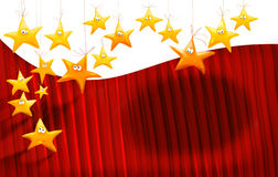 Cartoons stars background Royalty Free Stock Photography