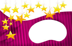 Cartoons stars background Royalty Free Stock Photo