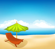 Cartoons Vocation Lounger Royalty Free Stock Image