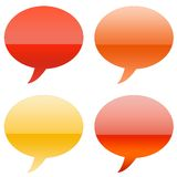 Cartoony Aqua Speech Bubbles Royalty Free Stock Image