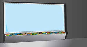 Cartoony Computer Screen Stock Images