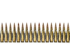 Cartouche calibre de 7,62 millimètres. Image libre de droits