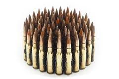 Cartouche calibre de 7,62 millimètres. Photo stock