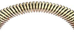 Cartouche calibre de 7,62 millimètres. Images libres de droits