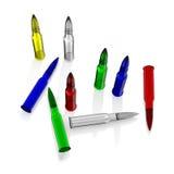 Cartouche en verre de couleur Image libre de droits