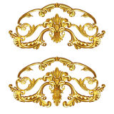 Cartouche gold Royalty Free Stock Photo