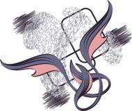 Cartouche M.A Mystery Lucky Charm lizenzfreie abbildung