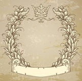 Cartouche with ribbon Stock Photography