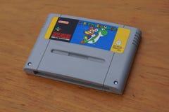 Cartouche superbe de jeu de Nintendo de Mario World superbe images libres de droits