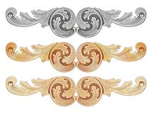 Cartouches gold 3 Stock Image