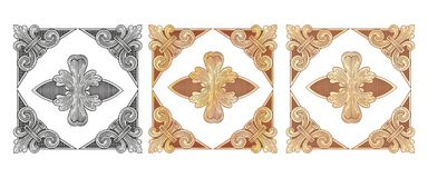 Cartouches gold 6 Stock Image
