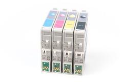 Cartouches pour l'imprimante à jet d'encre de couleur photographie stock libre de droits
