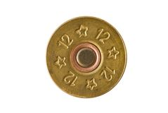Cartridge of 12th caliber for a hunting rifle Royalty Free Stock Images