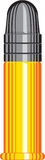 Cartridge. Illustration of a bullet cartridge vector illustration
