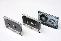 Cartridge. On a photo of audio the cartridge. The photo is isolated Stock Image
