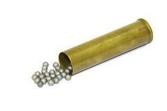 Cartridge with aluminium shot Stock Photos