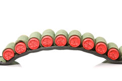 Cartridge belt. With 12 gauge shots royalty free stock image