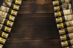 Cartridge-belts stock photo