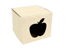 Cartridge box with apple cut-out 3/4 view Stock Image
