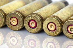 The cartridge cases Royalty Free Stock Photos