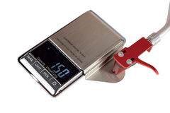 Cartridge digital scale royalty free stock photography