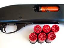 Cartridge and gun. Stock Photo