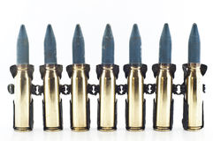 Cartridge 20 mm caliber. Cartridge 20 mm caliber aircraft gunnery bullet isolated stock images