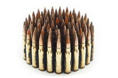 Cartridge 7.62 mm caliber . Stock Photo