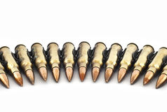 Cartridge 7.62 mm caliber . Royalty Free Stock Photos