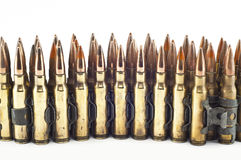 Cartridge 7.62 mm caliber . Stock Photography