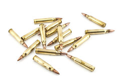 Cartridge 5.56 mm caliber . Stock Photography
