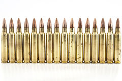 Cartridge 5.56 mm caliber . Royalty Free Stock Images