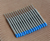 Cartridges ballpoint. Large capacity cartridges for ballpoint pens Royalty Free Stock Photography