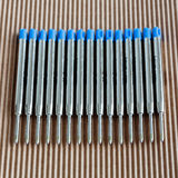 Cartridges ballpoint. Large capacity cartridges for ballpoint pens Stock Photo