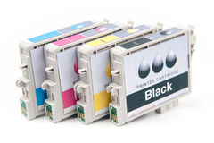 Cartridges for colour inkjet printer Royalty Free Stock Photos
