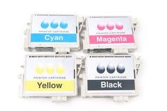 Cartridges for colour inkjet printer Stock Image