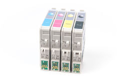 Cartridges for colour inkjet printer Royalty Free Stock Photography