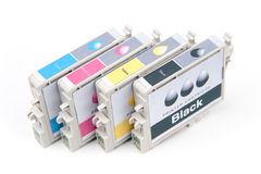 Cartridges for colour inkjet printer Royalty Free Stock Images