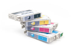 Cartridges for colour inkjet printer Stock Image