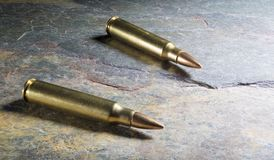 Ammunition for an assault riflie Royalty Free Stock Image