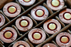 Cartridges from the gun Stock Image