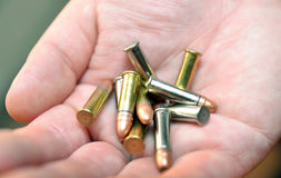 Cartridges in hand Royalty Free Stock Image