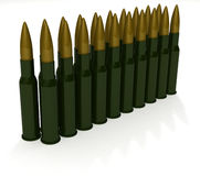 Cartridges for machine gun Kalashnikov Stock Photography