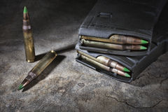 Cartridges and magazines Royalty Free Stock Photos