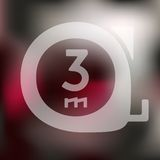 Cartridges meters icon on blurred background Royalty Free Stock Image