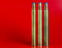 Cartridges for rifled arms Royalty Free Stock Photos