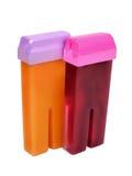 Cartridges for wax depilation Stock Photos