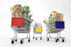 carts деньги ходя по магазинам 3 Стоковая Фотография RF